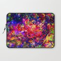 abstract tropical flowers Laptop Sleeve