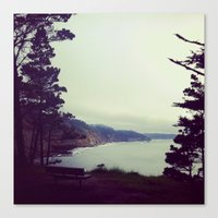 Canvas Print featuring Ocean View by rachellam