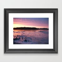 Frozen Sunset 3 - Pink L… Framed Art Print