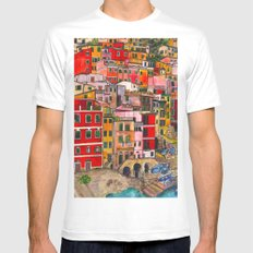 Manarola, Italy  Mens Fitted Tee SMALL White