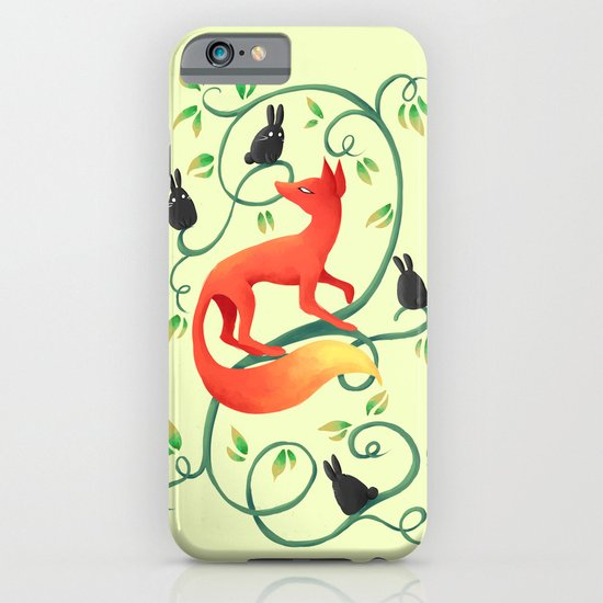 Bunnies and a Fox iPhone & iPod Case