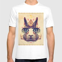 Rabbit Heart Mens Fitted Tee White SMALL