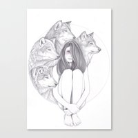 Company Of Wolves Canvas Print