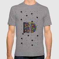 Letter D Mens Fitted Tee Athletic Grey SMALL