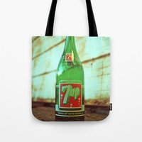 Nostalgic 7up bottle Tote Bag