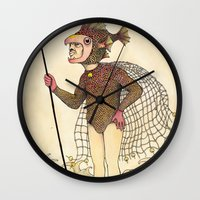 El pescado Wall Clock