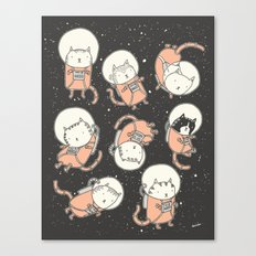 Cat-Stronauts Canvas Print