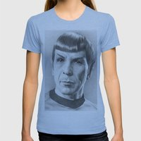 Spock - Fascinating (Sta… Womens Fitted Tee Athletic Blue SMALL