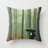 Trees In Suits Throw Pillow
