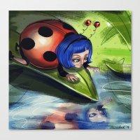 Bug Girls: Curious Lady … Canvas Print