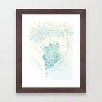 Wind tangle Framed Art Print