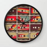 Mixed Tapes Wall Clock
