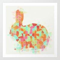 Oh, Hi Rabbit Art Print