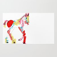 Baby horse colour Rug