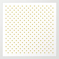 Golden Dots Art Print