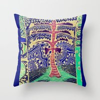Jardin 5 Throw Pillow