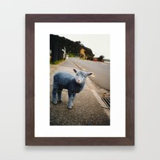 Blue? Sheep? Framed Art Print