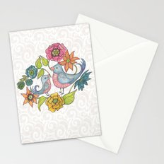 Blue Bird Garden Stationery Cards