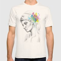 Butterfly Queen Mens Fitted Tee Natural SMALL