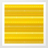 Indomitable - tribal geometrics Art Print