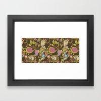 Paisley Brown Framed Art Print