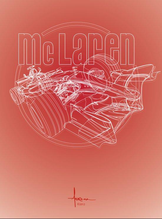 McLAren F1 RED Art Print