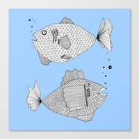 Fish Bed Canvas Print