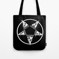 Pizzagram (Monochrome) Tote Bag