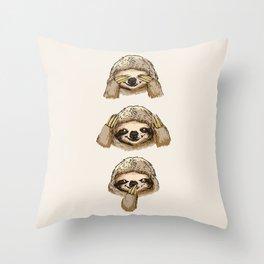 Throw Pillow - No Evil Sloth - Huebucket