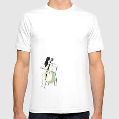 Celloist White SMALL Mens Fitted Tee