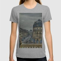 Paris Womens Fitted Tee Athletic Grey SMALL