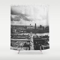 London Below (B&W) Shower Curtain