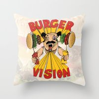 Burger Vision Throw Pillow