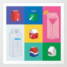 Stuff in a box Art Print