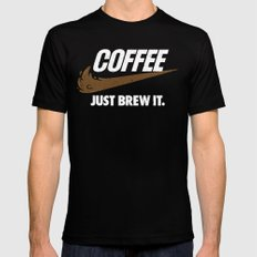 Just Brew It SMALL Mens Fitted Tee Black
