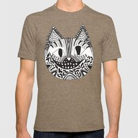 CHESHIRE CAT Mens Fitted Tee Tri-Coffee SMALL