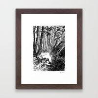 Murder in the Pines Framed Art Print