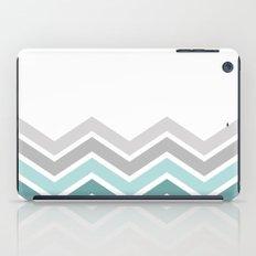 WHITE/ TEAL CHEVRON FADE iPad Case