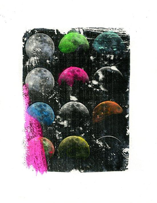 moon phases I Art Print