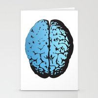 Bird Brain Stationery Cards