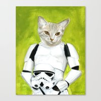 Poopy the Kitty Storm Trooper  Canvas Print