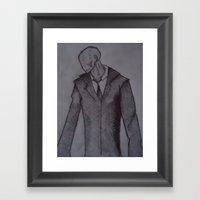 Man Without A Face. Framed Art Print