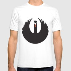 The Black Swan SMALL White Mens Fitted Tee