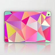 Pink Polygons Laptop & iPad Skin