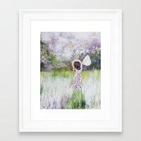 Summer walk Framed Art Print