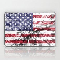 America Flag Extrude Laptop & iPad Skin