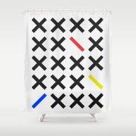 Shower Curtain featuring Minimalism 3 by Mareike Böhmer Grap…