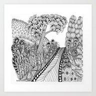 Zentangle Illustration -… Art Print