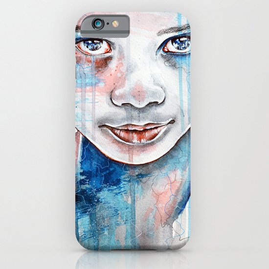 When the rain washes you clean, watercolor illustration iPhone & iPod Case
