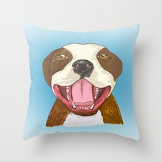 Pit Bull Pride Throw Pillow